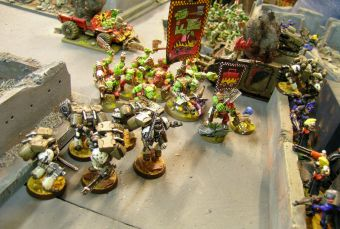 Dark Angels-Eldars vs Deathguard-Orks